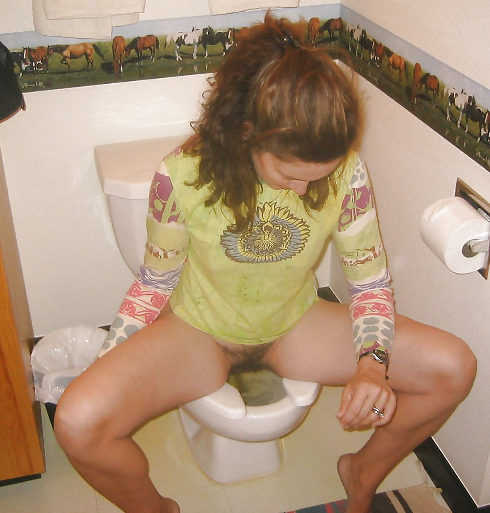 Crotch peeing pubes she toilet vag, poor teen video